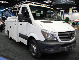 Mercedes-Benz featured a Maranda Sprinter Service Body, which is made from high-strength,...
