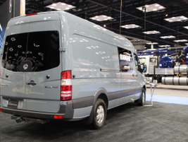 The Mercedes Sprinter 4x4 option, announced at the show, will be offered on all models ordered...