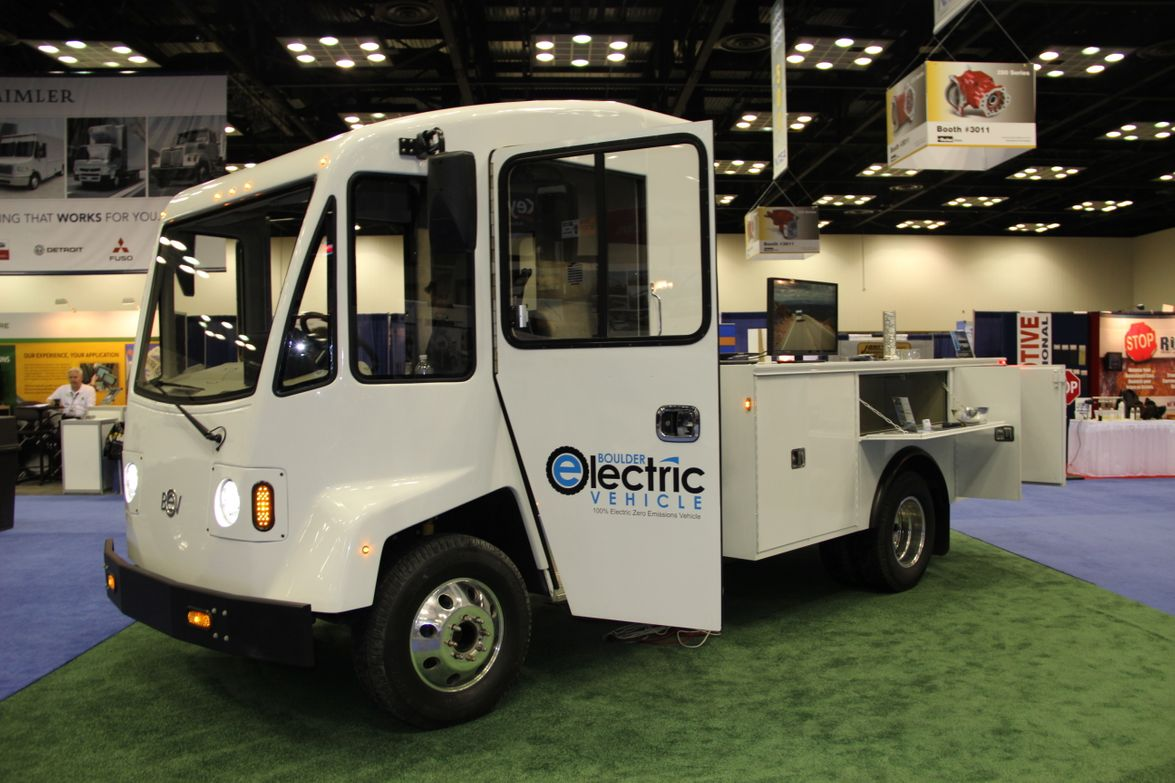 Boulder Electric Vehicle displayed its plug-in electric van. (PHOTO: Lauren Fletcher)