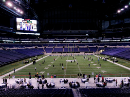 Photo courtesy of NTEA.The opening reception was held at Lucas Oil Stadium.