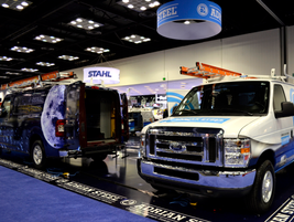 Adrian Steel showcased its products, including for larger and smaller cargo vans.