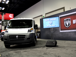 Ram Commercial showcased its new Promaster commercial van. Pictured is Fred Diaz, president and...