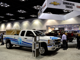 GM showed off its new CNG offering on the Chevrolet Silverado.