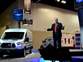 Len Deluca, director of commercial truck sales and marketing for Ford, introduced the new...