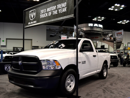 The Ram 1500 was on display, boasting its 2013 Motor Trend Truck of the Year award.