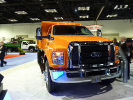 The redesigned Ford F-650 Super Duty with dump body. (PHOTO: Chris Brown)