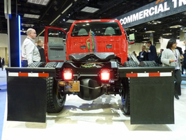 A rear-view of the Ford F-650 cab and chassis. (PHOTO: Chris Brown)