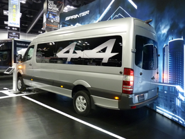 Mercedes introduced a 4x4 version of its Sprinter van at the Work Truck Show. (PHOTO: Chris Brown)