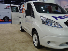 Nissan is resting an all-electric version of its NV200 small van, based on the Nissan Leaf...