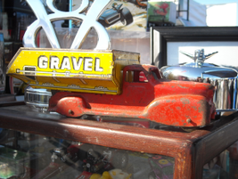This was a neat, old toy truck at one of the vendors, who was kind enough to let me snap a photo.
