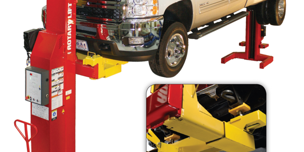 With the Rotary Lift frame adapter kit, fleet operators can lift Class 3 and most Class 4 trucks...