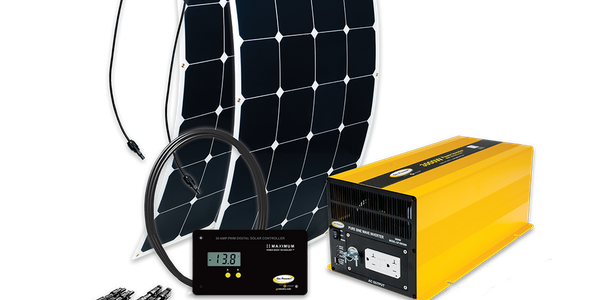 The new Solar Flex panels come in 30-, 100-, and 200-watt power kits and can be paired with a...