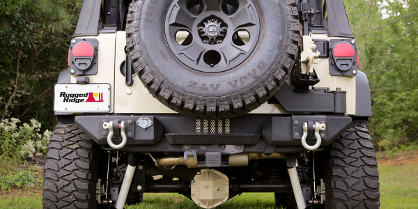 Rugged Ridge's new  Gen II Swing and Lock Tire Carrier eliminates the two-step tailgate...