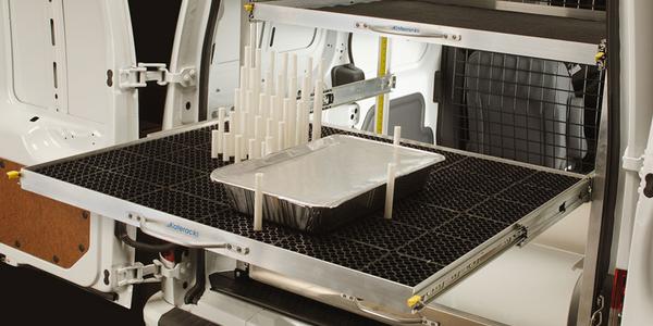 The Dejana Katerack Interior Shleving System (PHOTO: Dejana Truck and Utility Equipment)
