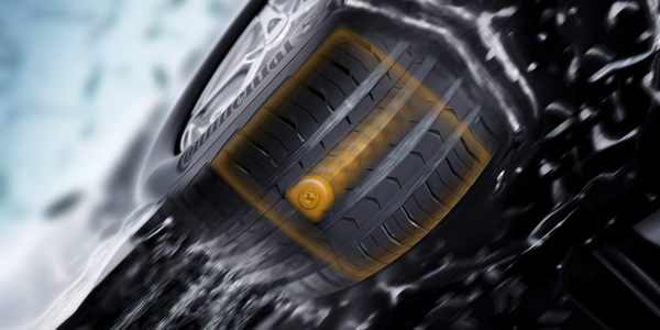 For this new type of electronic tread depth detection, Continental engineers draw on a tire's...