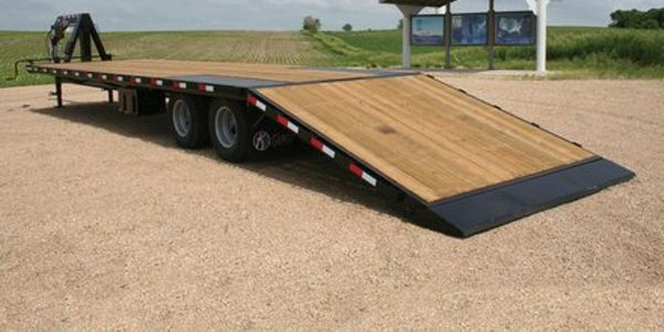 Kiefer Manufacturing has introduced the enhanced steel industrial flatbed trailer line. (PHOTO:...