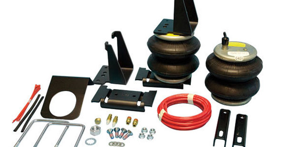A pair of Ride-Rite air springs can provide up to 5,000 pounds of load leveling capacity.
