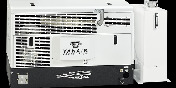 Photo courtesy of Vanair Mobile Power Solutions.The new Air N Arc I-300 with an integrated...