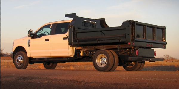 The decking of the HD Dump Body is manufactured from 3/16-inch steel, with a single seam...