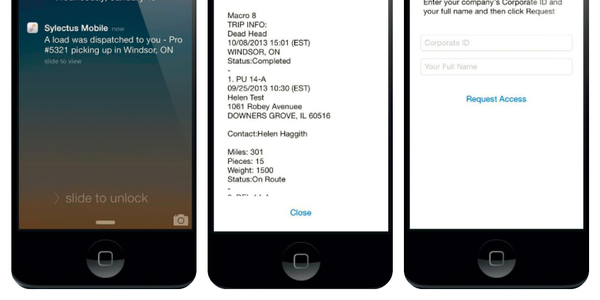 The iPhone application also integrates with Omnitracs' Driver Workflow application, which...