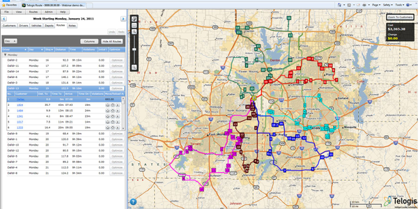Telogis Route 3.0 supports various vehicle types and seamlessly integrates with the Telogis...